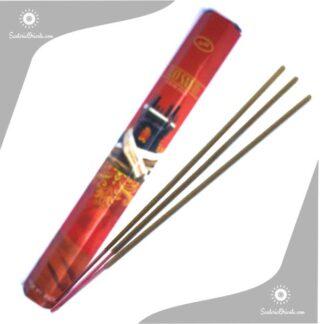sahumerio de la india de Palo santo sree vani caja roja hexagonal