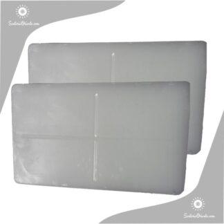 placas de parafina punto de fusion 58 grados blanca