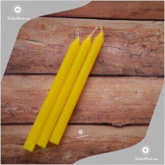 vela amarilla x unidad y velas amarillas x 100