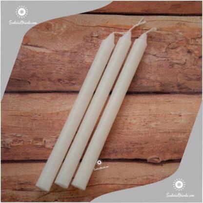 Vela blanca lisa x unidad y velas blancas x 100 unidades