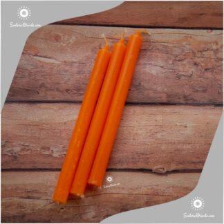 vela larga naranja x unidad o vela largas naranjas x 100 unidades