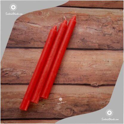 vela larga roja y velas largas rojas x 100