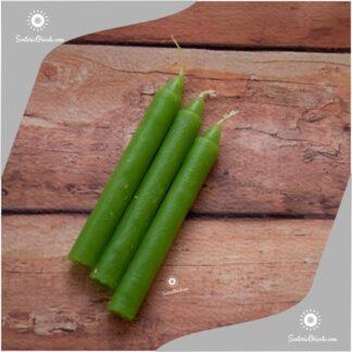 vela corta verdes y velas cortas verdes x 100