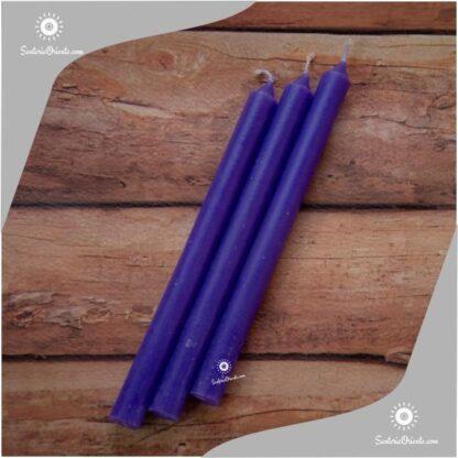 Vela larga azul y velas largas azules x 100