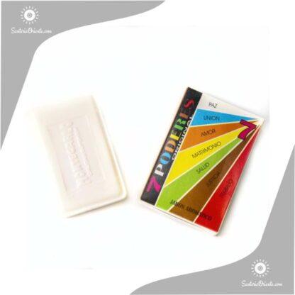 jabon 7 poderes montecarlo color blanco en caja