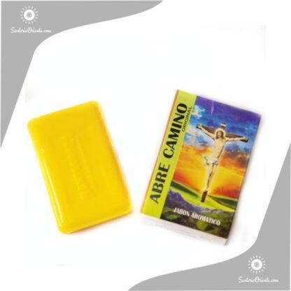 jabon abrecamino montecarlo color amarillo en caja