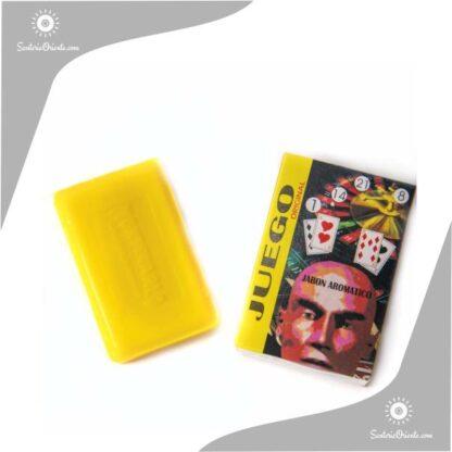 jabon para el juego montecarlo color amarillo en caja