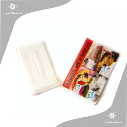 jabón unión de pareja montecarlo color blanco en caja