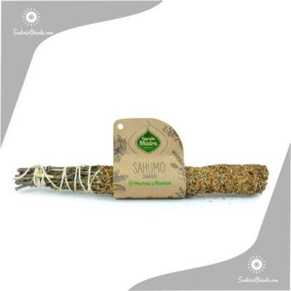 sahumo sagrado de 10 hierbas y resina