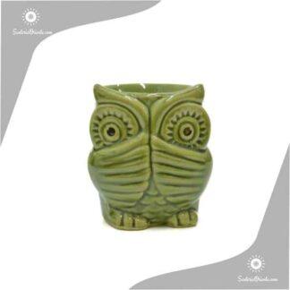 Hornillo buho de 10 cm de alto en ceramica