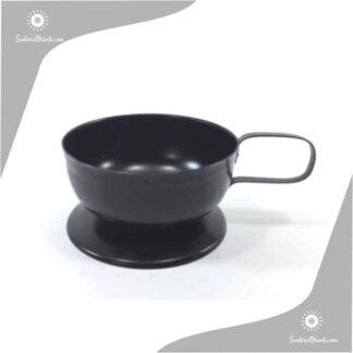 sahumador negro de metal con asa