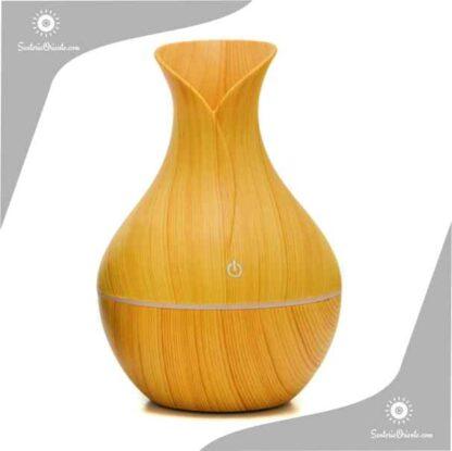 humidificador madera clara tipo florero