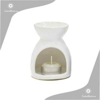 hornillo minimalista de 10 cm en color blanco