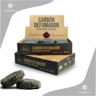 carbon sagrada madre para defumar en rosario en caja de 12 unidades