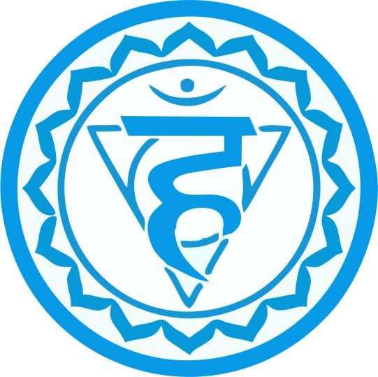 simbolos de chakras azul Visuddha