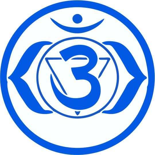 simbolos de chakras azul ajna