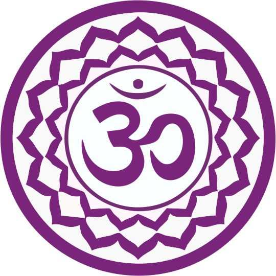 simbolos de chakras violeta Sahasrara