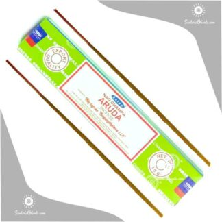 sahumerio aruda satya masala caja color verde de aroma a ruda