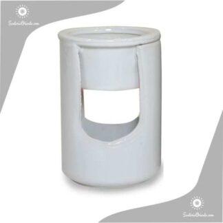 Hornillo Cilindrico 2 Piezas 12,5 cm blanco