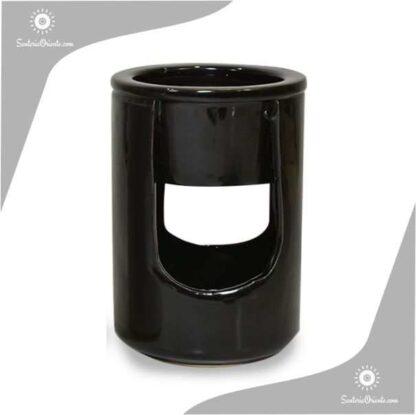 Hornillo Cilindrico 2 Piezas 12,5 cm negro