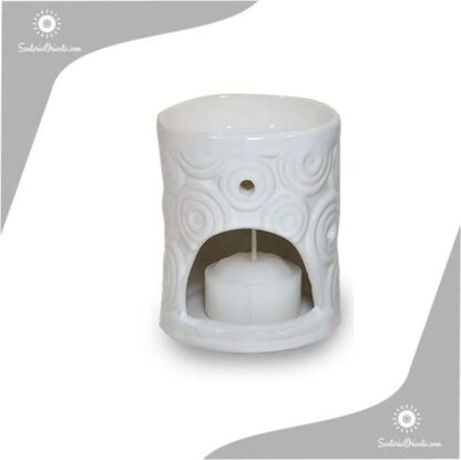 Hornillo Circulos 8 cm blanco