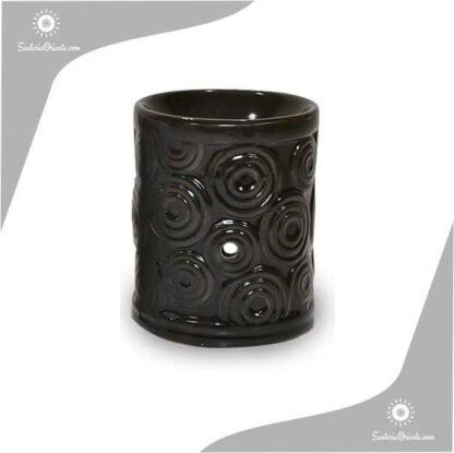 Hornillo Circulos 8 cm negro