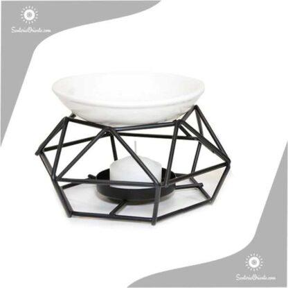Hornillo Metal y Ceramica 8 cm. negro