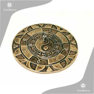 portasahumerios metal grande ying yang en el medio