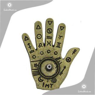 portasahumerios metal mano con simbolos