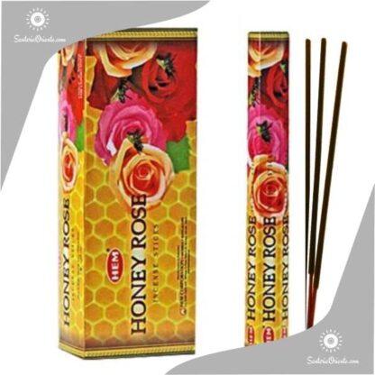 sahumerios hem honey rosa o miel y rosa