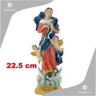 imagen de la virgen desatanudos de resina poliester de 22 cm