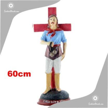 imagen de resina de Gauchito gil 60 cm de alto
