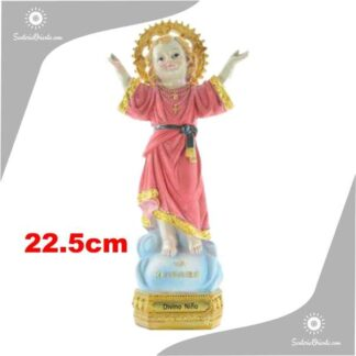 imagen de resina del divino niño de 22,5cm de alto