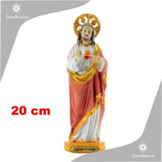 imagen sagrado corazon de jesus 20 cm resina poliester