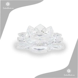 portavela flor de loto en vidrio