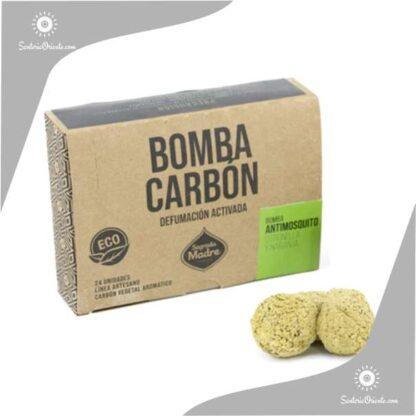 bomba carbon sagrada madre citronela y naranja antimosquitos