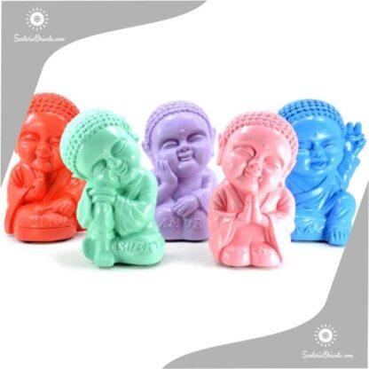 Buda bebe en yeso 21 cm en varios colores