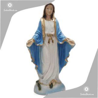 imagen de yeso de la virgen medalla milagrosa 30 cm