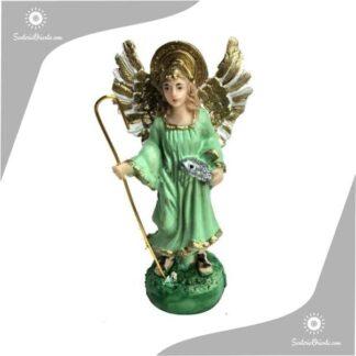 imagen de yeso del arcangel rafael en 15 cm