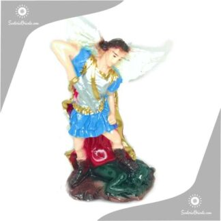 imagen de yeso del arcangel san miguel en 15 cm