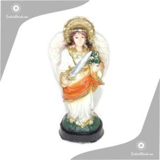 imagen de yeso del arcangel uriel en 15 cm