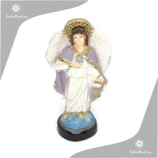 imagen de yeso del arcangel zatkiel en 15 cm