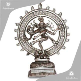 imagen shiva nataraja 28 cm resina poliester plateado