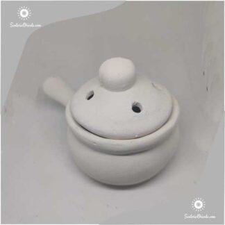 sahumador de ceramica con tapa
