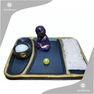 jardin zen yeso chico con buda economico
