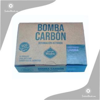 bomba carbon lavanda x caja de 24 unidades sagrada madre
