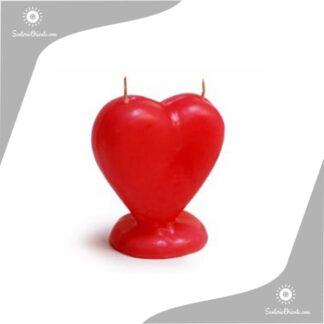 vela de forma corazon