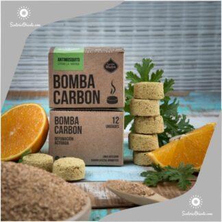 bomba carbon naranja citronella antimosquitos x 12 unid.